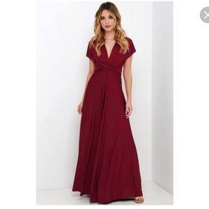 Lulus Always Stunning Convertible Dress